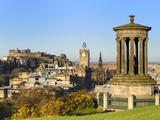 Edinburgh Cityscape from Calton Hill  Edinburgh  Lothian  Scotland