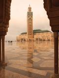 Hassan II Mosque Through Archway  Casablanca  Morocco  North Africa  Africa