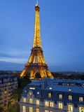 Eiffel Tower  Viewed over Rooftops  Paris  France  Europe