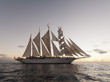 Star Clipper Sailing Cruise Ship  Dominica  West Indies  Caribbean  Central America