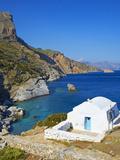 Beach and Church  Agia Anna  Amorgos  Cyclades  Aegean  Greek Islands  Greece  Europe