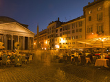 People Dining at Outside Restaurant Near the Pantheon  Rome  Lazio  Italy  Europe