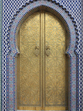 Door  Royal Palace Gates  Fez  Morocco  North Africa  Africa