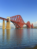 Forth Rail Bridge over the Firth of Forth  South Queensferry Near Edinburgh  Lothian  Scotland