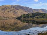 Loch Leven Reflections  Glencoe Village  Scottish Highlands  Scotland
