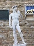 Statue of David  Piazza della Signoria  Florence  UNESCO World Heritage Site  Tuscany  Italy