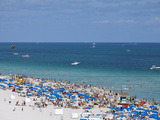 Crowded Beach  South Beach  Miami Beach  Florida  United States of America  North America