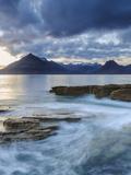Sunset at Elgol Beach on Loch Scavaig  Cuillin Mountains  Isle of Skye  Scotland