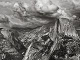 Half Dome under Storm  Yosemite Nat'l Park  UNESCO World Heritage Site  Yosemite  California  USA