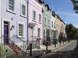 Pastel Coloured Terraced Houses  Bywater Street  Chelsea  London  England  United Kingdom  Europe