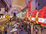 The Freemont Street Experience in Downtown Las Vegas  Las Vegas  Nevada  USA  North America