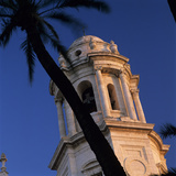Detail of Tower of Catedral Nueva  Cadiz  Andalucia  Spain  Europe