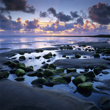 Sunset over Rock Pool  Strandhill  County Sligo  Connacht  Republic of Ireland  Europe