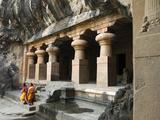 Cave Temple on Elephanta Island  UNESCO World Heritage Site  Mumbai (Bombay)  Maharashtra  India
