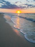 Sunset on the Tropical Island of Gili Trawangan  Gili Islands  Indonesia  Southeast Asia  Asia
