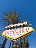 Welcome to Downtown Las Vegas Sign  Las Vegas  Nevada  United States of America  North America