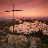 Sunrise over Typical White Andalucian Village  Casares  Andalucia  Spain  Europe