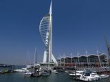 Spinnaker Tower from Gunwharf  Portsmouth  Hampshire  England  United Kingdom  Europe