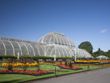 Palm House Parterre with Floral Display  Royal Botanic Gardens  UNESCO World Heritage Site  England