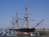 HMS Warrior  1st Armour-Plated Iron-Hulled Warship  Built for Royal Navy 1860  Portsmouth  England