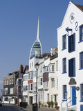Old Portsmouth with the Spinnaker Tower Behind  Portsmouth  Hampshire  England  UK  Europe