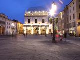 Piazza della Loggia at Dusk  Brescia  Lombardy  Italy  Europe