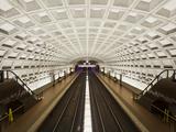 Foggy Bottom Metro Station Platform  Part of the Washington DC Metro System  Washington DC  USA