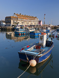 West Bay Harbour with Yachts and Fishing Boats  Bridport  UNESCO World Heritage Site  England