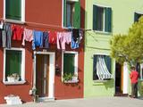 Corte Novello on Burano Island  Venice  Veneto  Italy  Europe