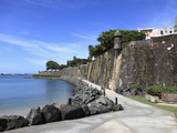 Old City Wall  UNESCO World Heritage Site  Old San Juan  San Juan  Puerto Rico  West Indies  USA