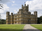 Highclere Castle  Home of Earl of Carnarvon  Location for BBC's Downton Abbey  Hampshire  England