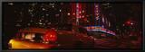 Car on a Road, Radio City Music Hall, Rockefeller Center, Manhattan, New York, USA Tableau sur toile encadré par Panoramic Images