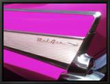 Classique Chevrolet Bel Air rose fucshia Tableau sur toile encadré par Bill Bachmann