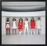 Models Wearing Fashions Designed by Andre Courreges Tableau sur toile encadré par Bill Ray