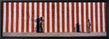 Two People Standing Outside a Temple, Tamil Nadu, India Tableau sur toile encadré par Panoramic Images