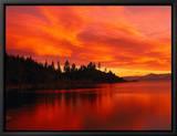 Sunset, Sierra Mountains, Lake Tahoe, CA Tableau sur toile encadré par Kyle Krause