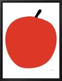 Pomme rouge Tableau sur toile encadré par Avalisa