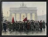 Manifestations de la gauche qui conduisirent Ebert à la tête de la République de Weimar en 1918 - Allemagne Tableau sur toile encadré
