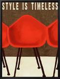 Le style est intemporel : fauteuils des années 50 Tableau sur toile encadré par Lisa Weedn