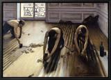 Les Raboteurs de parquet, 1875 Tableau sur toile encadré par Gustave Caillebotte