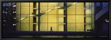 Silhouette of a Person Walking in Front of a Building  Paul Lobe Haus  Berlin  Germany