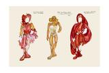 Red Riding Hood paper Doll Reproduction d'art par Zelda Fitzgerald