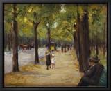 Promenade au Tiergarten, Berlin, Allemagne Tableau sur toile encadré par Max Liebermann