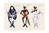 Red Riding Hood Wolf Reproduction d'art par Zelda Fitzgerald