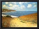 Chemin dans les blés à Pourville, 1882 Tableau sur toile encadré par Claude Monet
