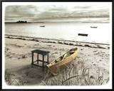 Bateau Sur Plage Tableau sur toile encadré par Jean Onesti