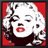 Marilyn Monroe - Rouge Tableau sur toile encadré