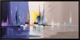 Langs De Vaart Tableau sur toile encadré par Luc Drappier