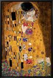 Le Baiser, vers 1907, détail Tableau sur toile encadré par Gustav Klimt