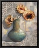 Mediterranean Poppies I Tableau sur toile encadré par Louise Montillio
